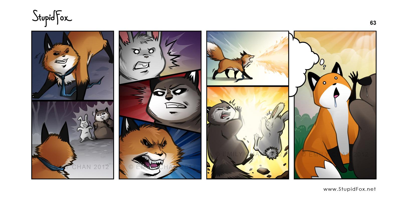 Комиксы лисичка и кот