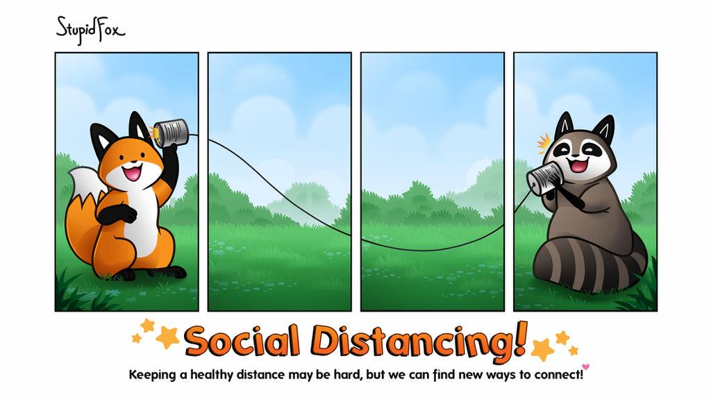 Social Distancing stupidfox.net